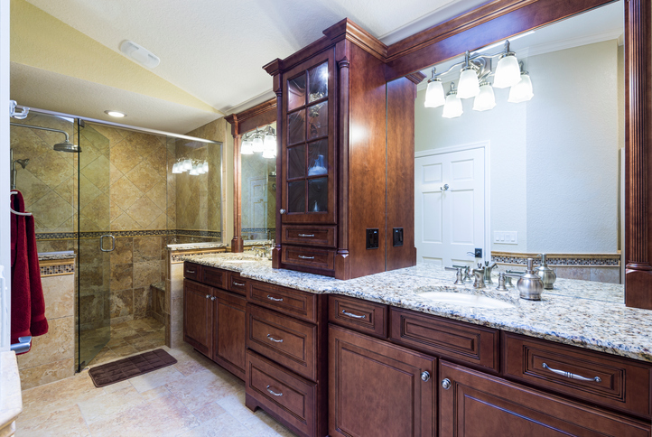 Beautiful Master Bathroom with double sink and shower