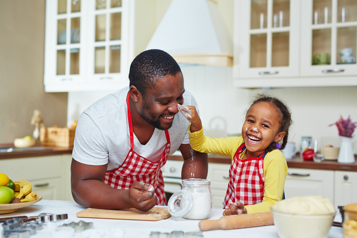 Cooking with father